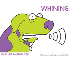 Help for your dog suffering from motion sickness. Whining is a symptom!