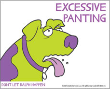 Help for your dog with motion sickness. Excessive panting is a symptom!